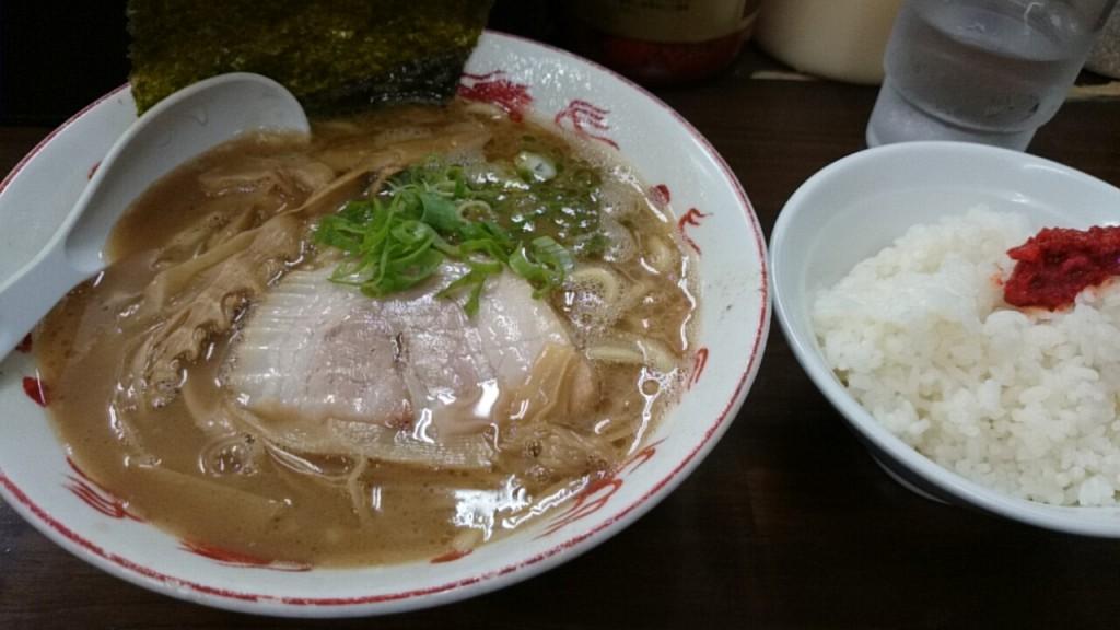 らぁ麺+半ライス