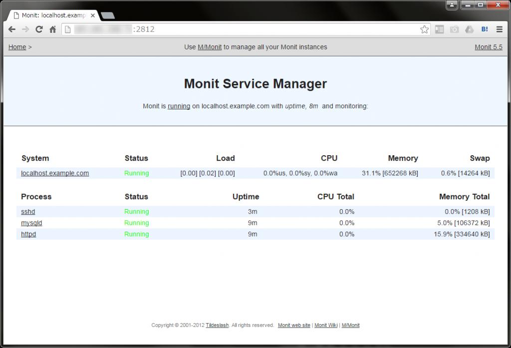参考:サービス監視追加後のホストステータス