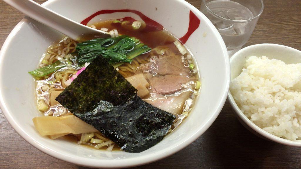 醤油そば+ライス、10円!!