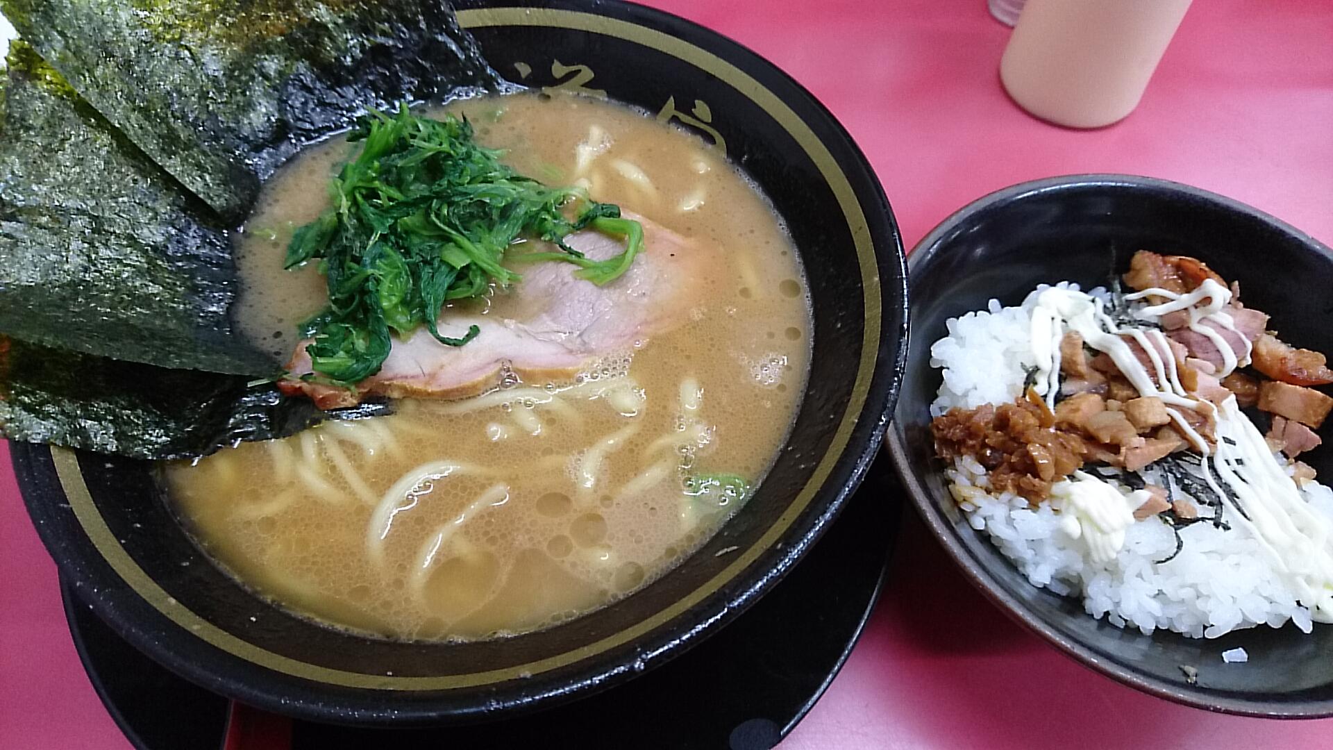 ラーメン並+半賄い飯(50円)コスパ抜群!